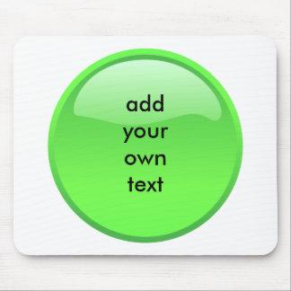 bouton vert tapis de souris