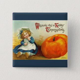 Bouton vintage de carré de thanksgiving pin's