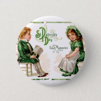 Bouton vintage de Dat de St Patrick Badges