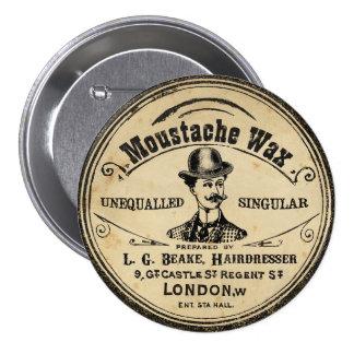 Bouton vintage de Pin de cire de moustache de la Pin's