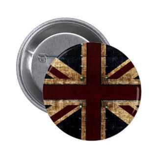bouton vintage d'Union Jack de conception Badge Avec Épingle