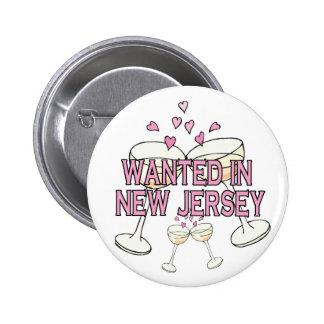 Bouton : Voulu dans le New Jersey Badge Avec Épingle