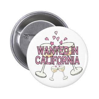 Bouton : Voulu en Californie Badges