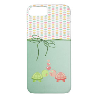 Boutons colorés Girly, tortues dans l'amour Coque iPhone 7