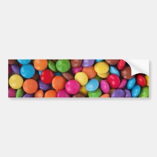 boutons colorés multi frais de chocolat autocollant de voiture