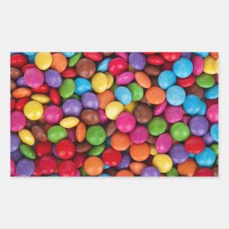 boutons colorés multi frais de chocolat stickers en rectangle