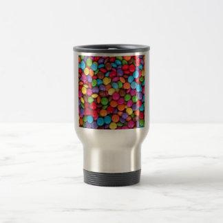 boutons colorés multi frais de chocolat mug de voyage en acier inoxydable