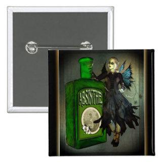 Boutons de carré de féerie d'absinthe badge carré 5 cm
