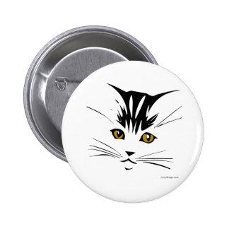 Boutons de conception d'art de chat badge