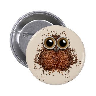 Boutons de hibou de café pin's