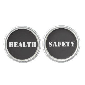 Boutons De Manchette Conception de mots de santé et sécurité