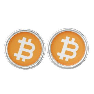 Boutons de manchette de Cryptocurrency Bitcoin