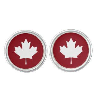 Boutons de manchette de feuille d'érable du Canada