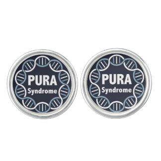 Boutons de manchette de logo de PURA