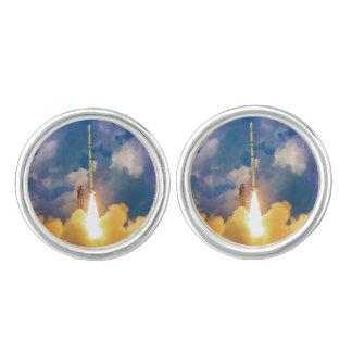 Boutons De Manchette Décollage de lancement de Rocket de scout de la