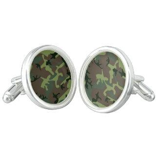 Boutons De Manchette Motif vert de Camo Brown de camouflage