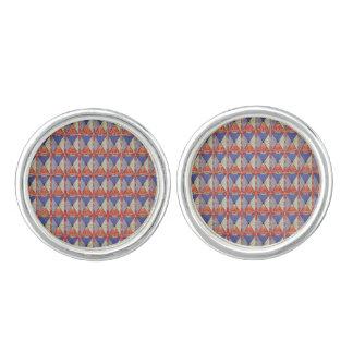 Boutons De Manchette Réseau cristallin - liens de manchette bleus