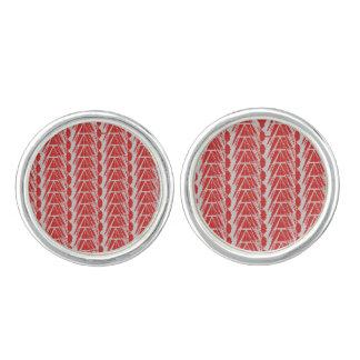 Boutons De Manchette Réseau cristallin - liens de manchette gris rouges