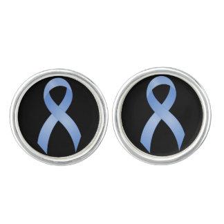 Boutons De Manchette Ruban bleu-clair de cancer de la prostate