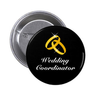 Boutons d'or de pinback d'anneaux de coordonnateur pin's