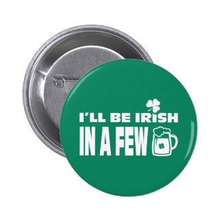 Boutons du jour de St Patrick d'amusement de thème Badge