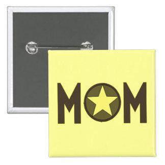 Boutons militaires du jour de mère de maman badges