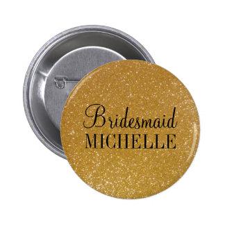 Boutons personnalisés de demoiselles d'honneur de badge rond 5 cm