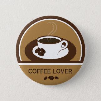 Boutons ronds de grains de café de tasse de café badges
