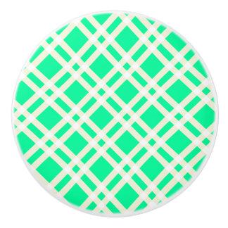 Boutons verts et blancs de motif de guingan