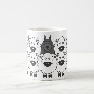 Bouvier chez les moutons mug