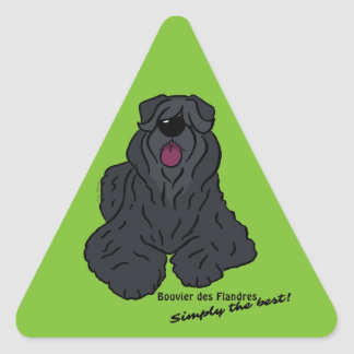 Bouvier du Flandres - Simply best the ! Sticker Triangulaire