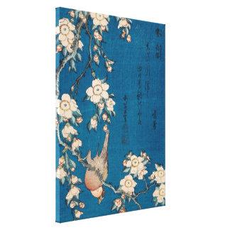Bouvreuil et cerise pleurante GalleryHD de Hokusai Toiles