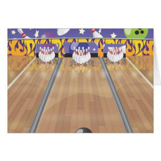 Bowling de Dix bornes Carte De Vœux