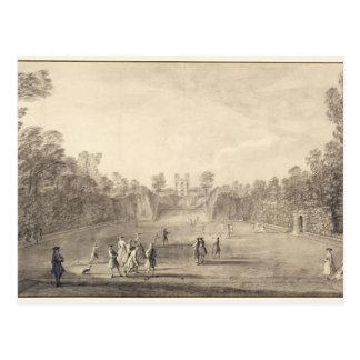 Bowling Green chez Claremont, 1738 (gravure) Carte Postale