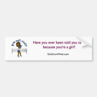 Boxe bleu-foncé de filles autocollants pour voiture