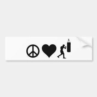 Boxe d'amour de paix autocollant de voiture