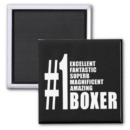 Boxe et boxeurs : Boxeur du numéro un Magnets Pour Réfrigérateur