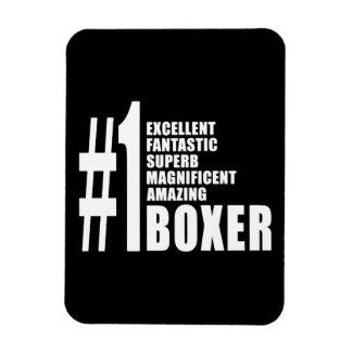 Boxe et boxeurs Boxeur du numéro un Magnet Rectangulaire