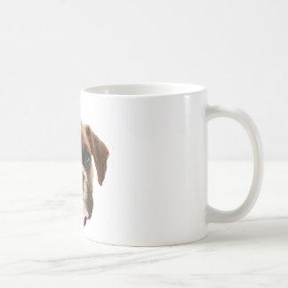 boxer face006 mug blanc