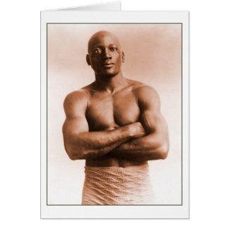 Boxeur d'Américain de Jack Johnson Cartes De Vœux