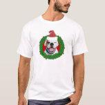 Boxeur de blanc de Noël T-shirt