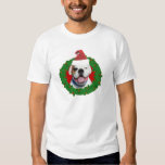 Boxeur de blanc de Noël T-shirts