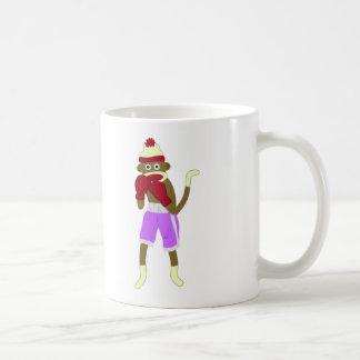 Boxeur de singe de chaussette mug