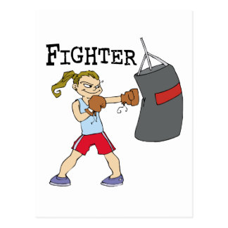 Boxeur féminin carte postale