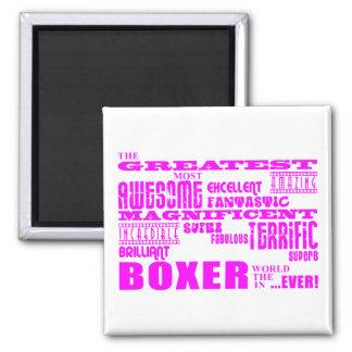 Boxeurs de filles : Plus grand boxeur rose Aimant
