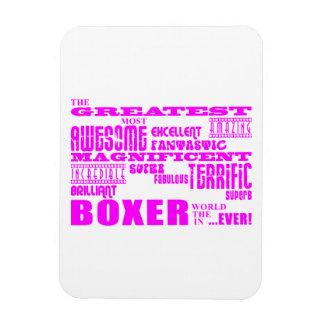 Boxeurs de filles Plus grand boxeur rose Magnets En Vinyle