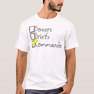 boxeurs, dossiers, commando t-shirt