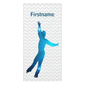 Boy figure skater bedroom sign - blue stars