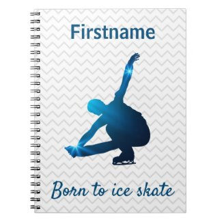 Boy figure skater journal - Blue stars