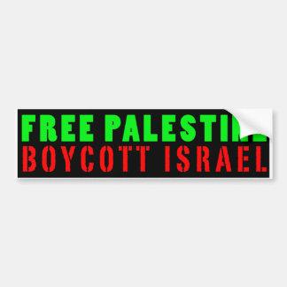 BOYCOTT LIBRE ISRAËL - adhésif pour pare-chocs de Autocollant Pour Voiture